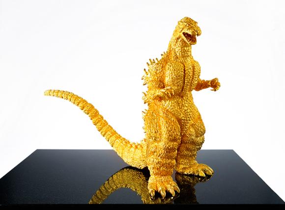 Gold Godzilla Statue
